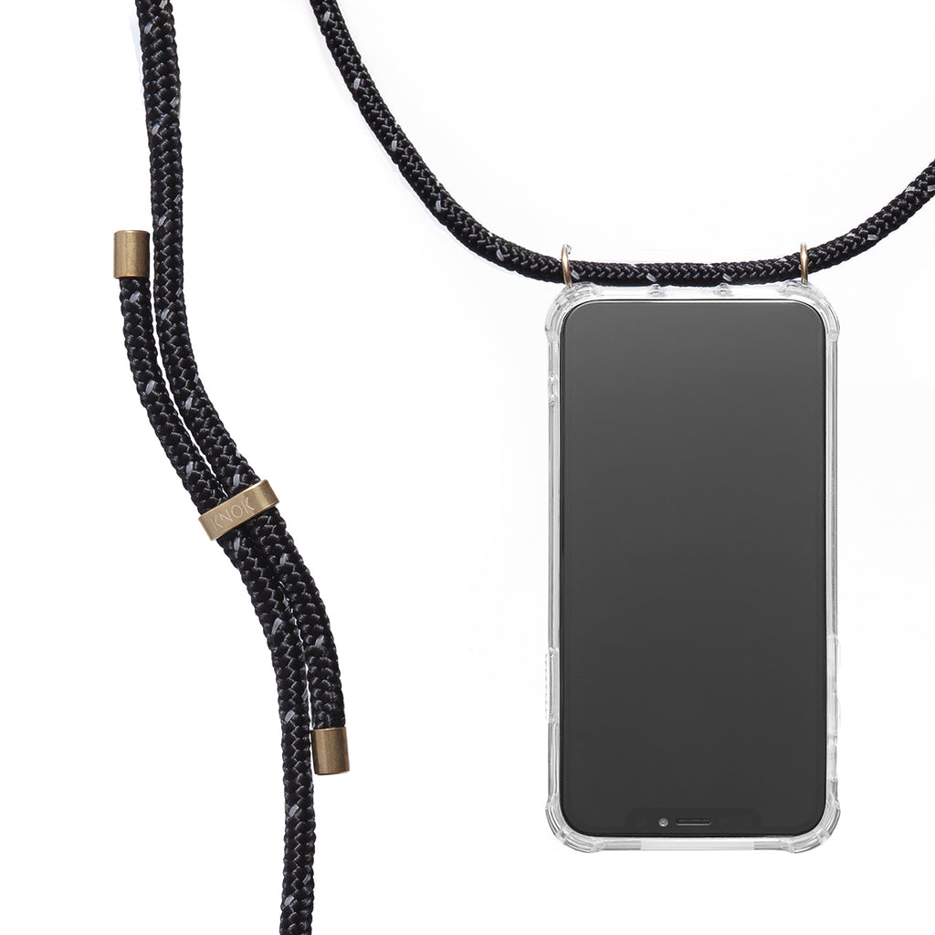 Phone Necklace - Reflect Black - KNOK STORE