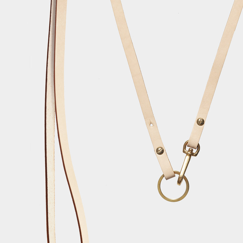Luna - Necklace Strap + Key Holder - Tan