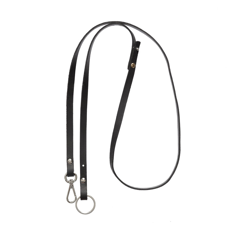 Luna - Necklace Strap + Key Ring - Black