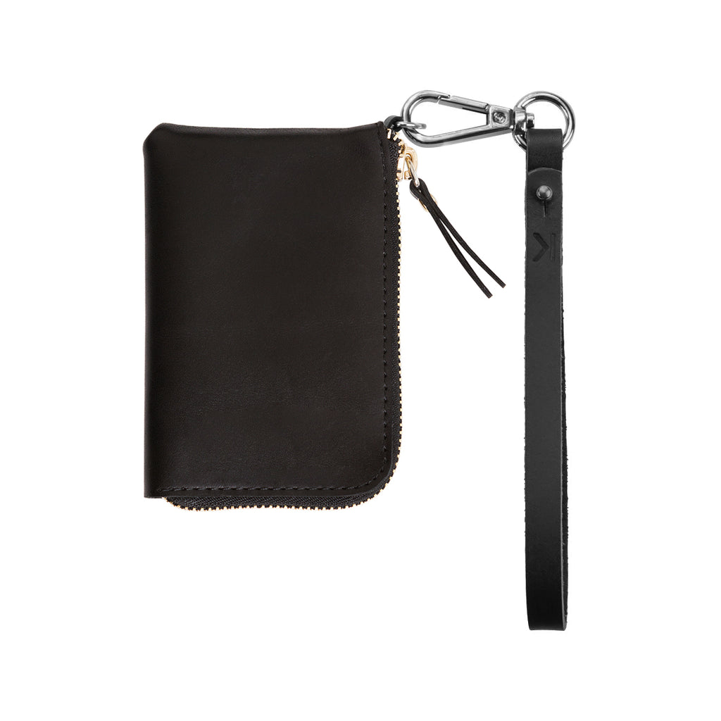 KNOK Wallet with strap - black