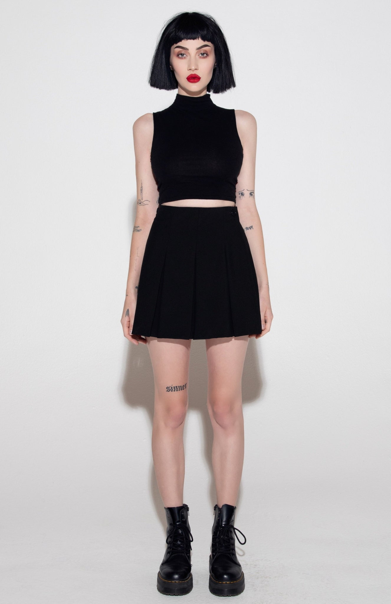 TWO WAY SKIRT - BLACK