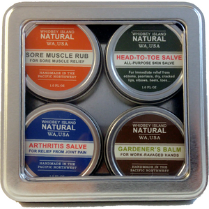 Four Salves in a Tin Gift Set