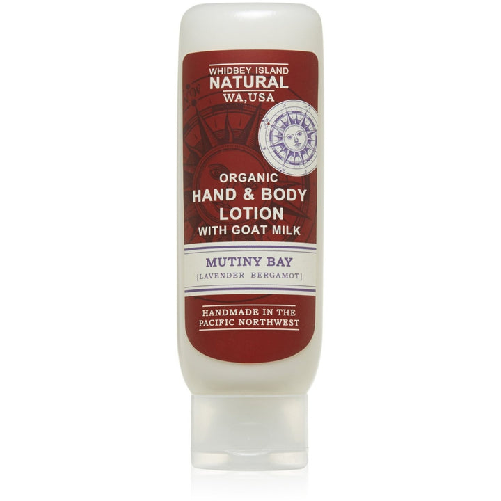 HAND & BODY LOTION WITH GOAT MILK | MUTINY BAY | LAVENDER BERGAMOT | FRONT