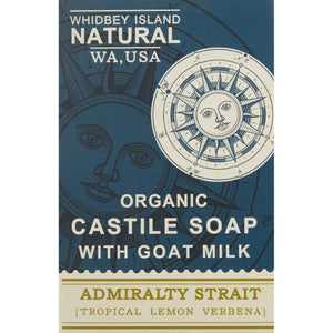 CASTILE SOAP BAR WITH GOAT MILK | ADMIRALTY STRAIT | TROPICAL LEMON VERBENA | FRONT