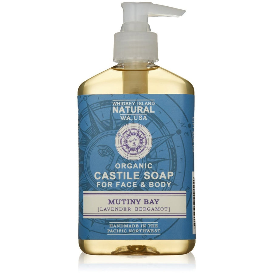CASTILE LIQUID SOAP FOR FACE & BODY | MUTINY BAY | LAVENDER BERGAMOT | FRONT