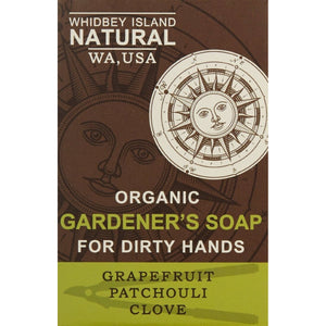 GARDENER'S SOAP FOR DIRTY HANDS | PATCHOULI GRAPEFRUIT CLOVE | FRONT