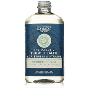 THERAPEUTIC BUBBLE BATH FOR SORE MUSCLE RELIEF | DECEPTION PASS | ROSEMARY | EUCALYPTUS | FRONT