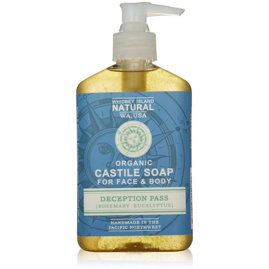 CASTILE LIQUID SOAP FOR FACE & BODY | DECEPTION PASS | ROSEMARY EUCALYPTUS | FRONT