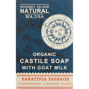 CASTILE SOAP BAR WITH GOAT MILK | SARATOGA PASSAGE | LAVENDER LEMONGRASS CLOVE | FRONT