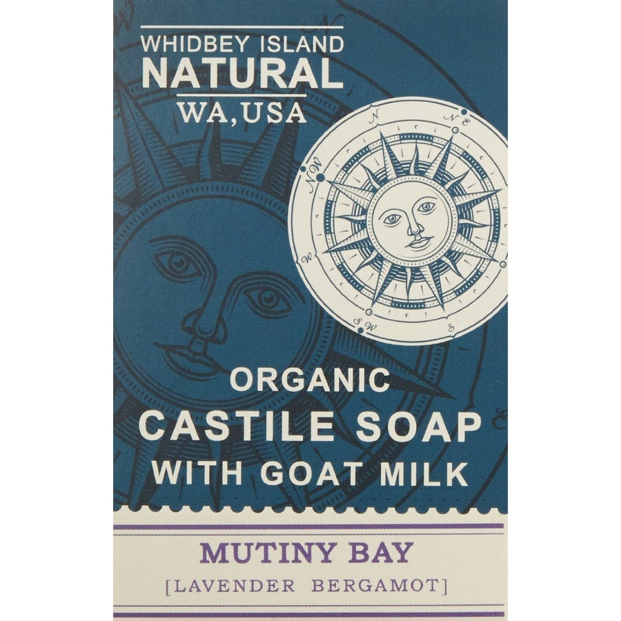 CASTILE SOAP BAR WITH GOAT MILK | MUTINY BAY | LAVENDER BERGAMOT | FRONT
