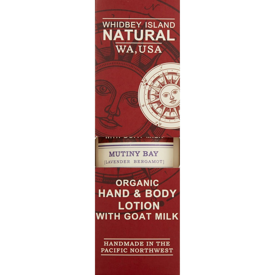 HAND & BODY LOTION WITH GOAT MILK | MUTINY BAY | LAVENDER BERGAMOT | 4 FL OZ