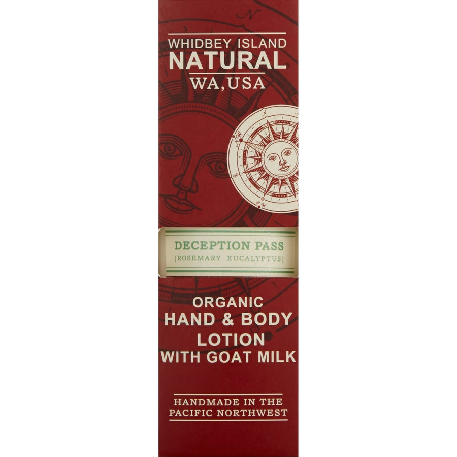 HAND & BODY LOTION WITH GOAT MILK | DECEPTION PASS | ROSEMARY EUCALYPTUS | BOX FRONT