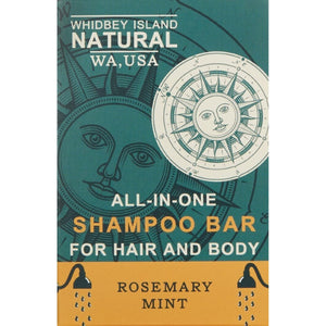 All-in-One Shampoo Bar for Hair and Body | Rosemary Mint | Front