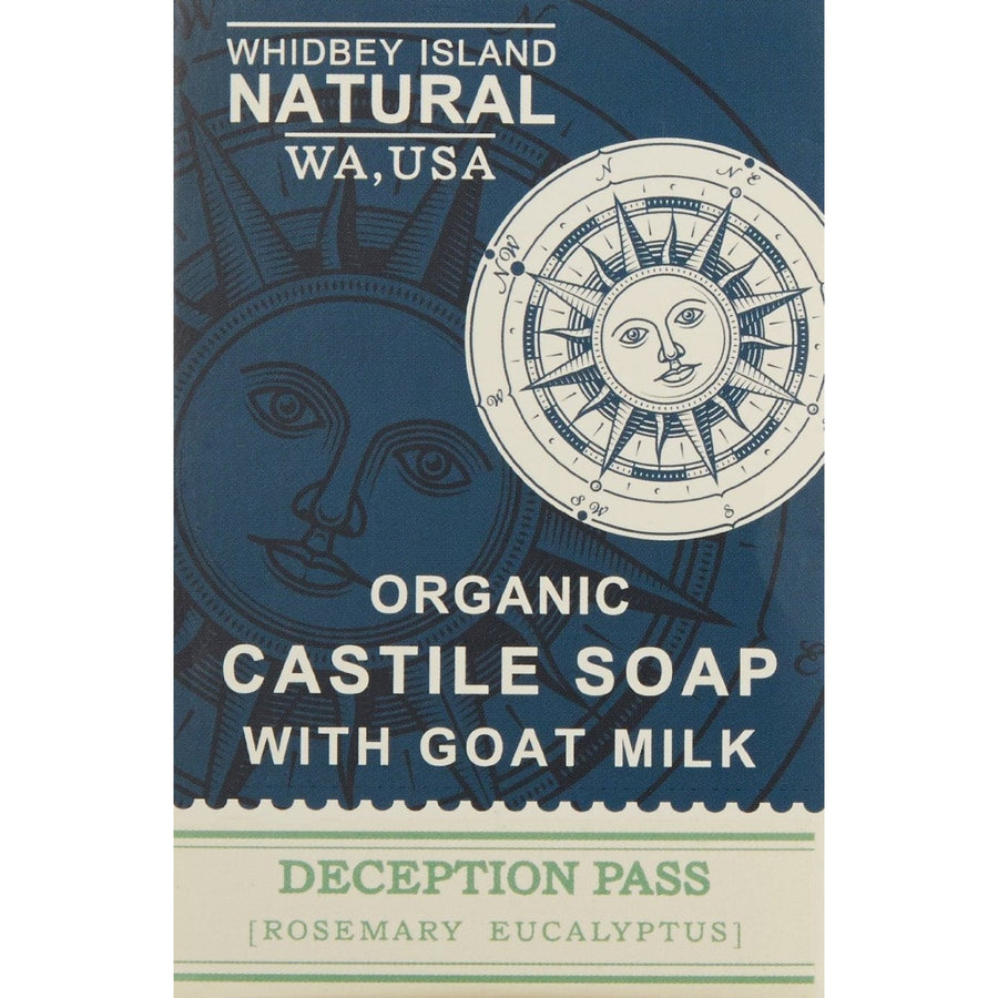 CASTILE SOAP BAR WITH GOAT MILK | DECEPTION PASS | ROSEMARY EUCALYPTUS | FRONT