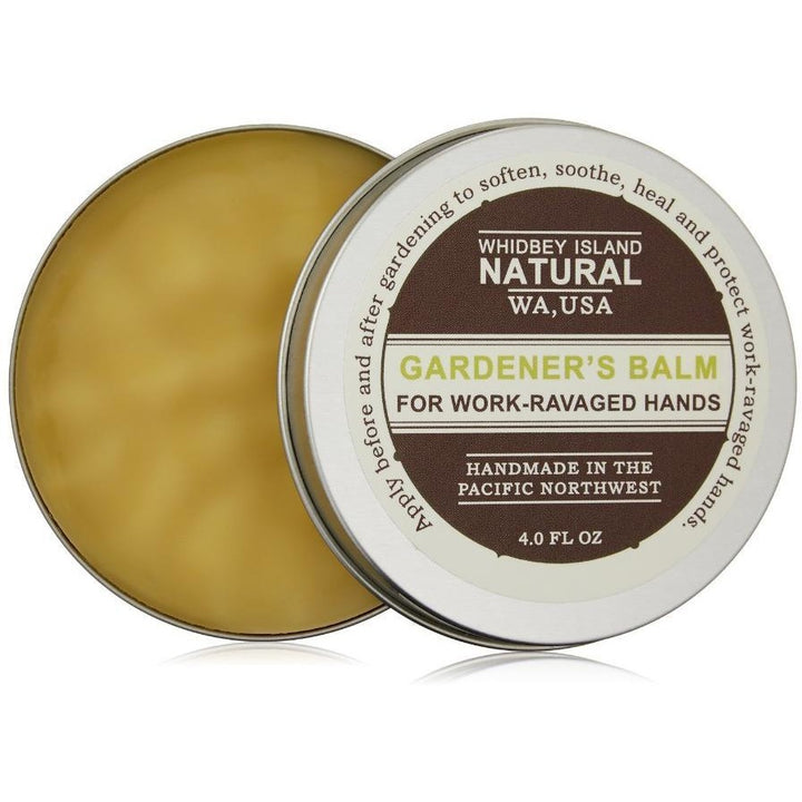 GARDENER'S BALM | FOR WORK-RAVAGED HANDS | OPEN TIN