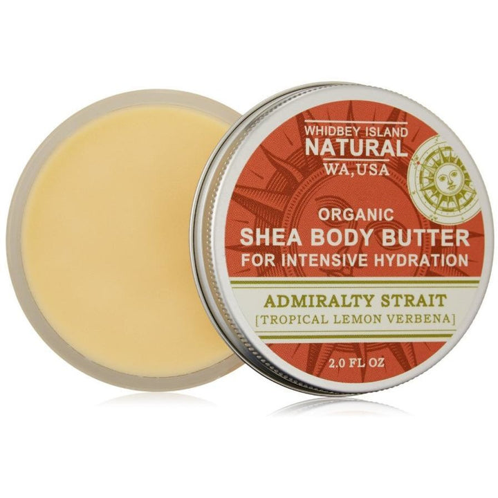 SHEA BODY BUTTER FOR INTENSIVE HYDRATION | ADMIRALTY STRAIT | TROPICAL LEMON VERBENA | OPEN JAR