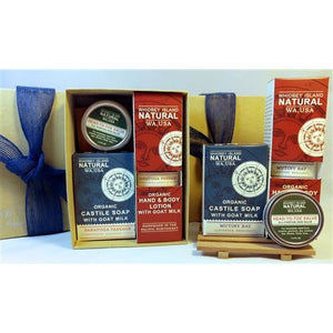 Gift Set - One Lotion | One Soap Bar | One One-Ounce Salve | Cedar Soap Bar Dish | Gift Box
