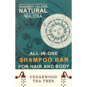 All-In-One Shampoo Bar For Hair and Body | Ceder Wood & Tea Tree | 4.2 OZ