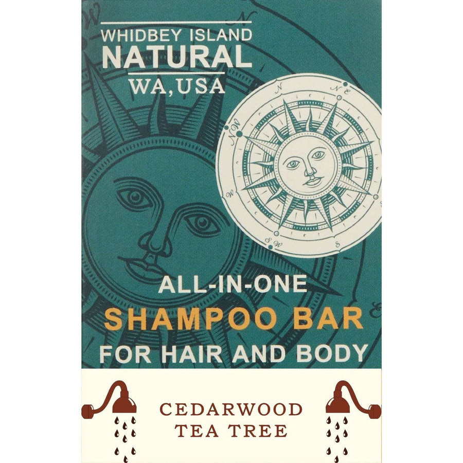 All-In-One Shampoo Bar For Hair and Body - Ceder Wood & Tea Tree 4.2 OZ
