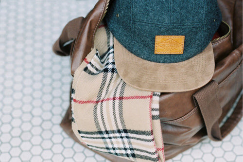 Wool & Suede Premium 5-Panel Camp Hat