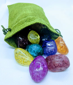 Green Gemstone Bag ~ Medium