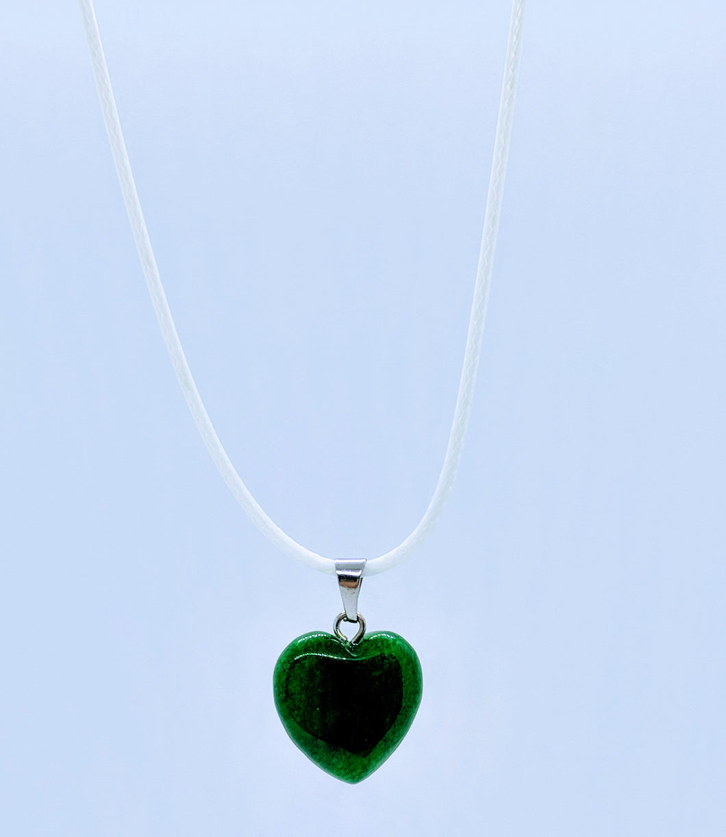 Heart Pendant Necklace ~ Emerald