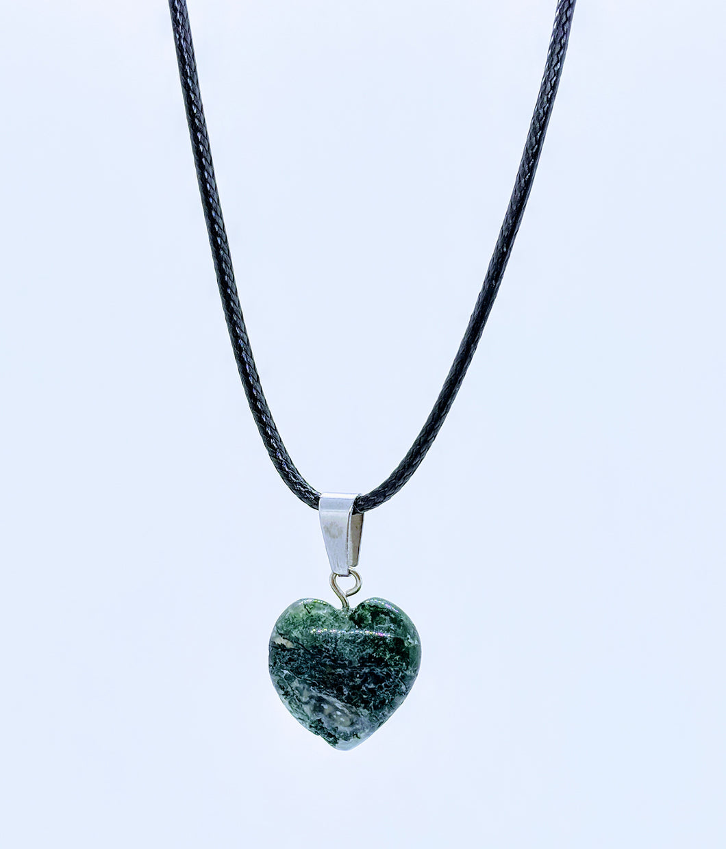 Heart Pendant Necklace ~ Green Earth