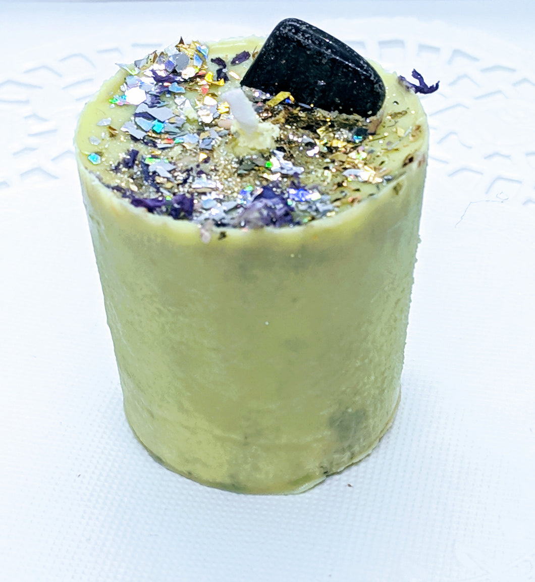 Votive Candle ~ Essential Oil ~ Lime & Gemstone