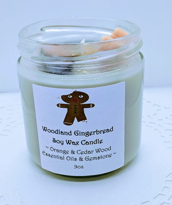 Healing Holiday Candle ~ Woodland Gingerbread