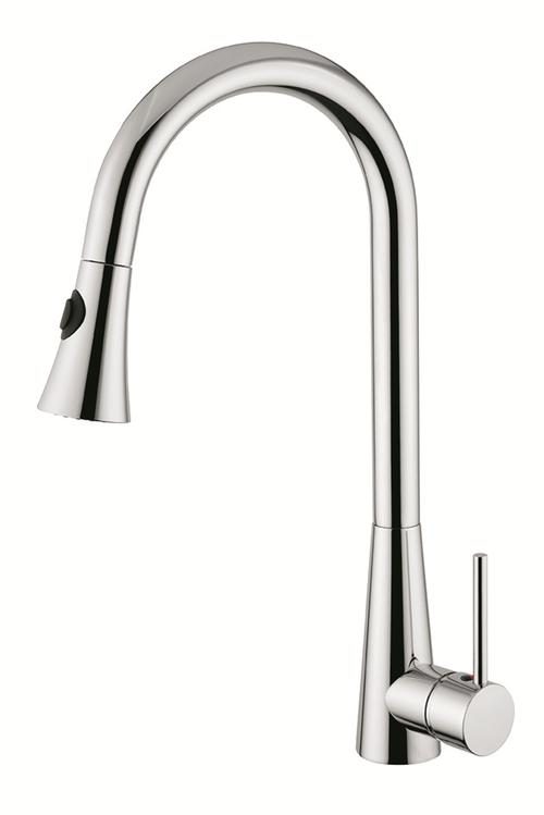 Kitchen Faucet With Pull-Out Handset Chrome Finish