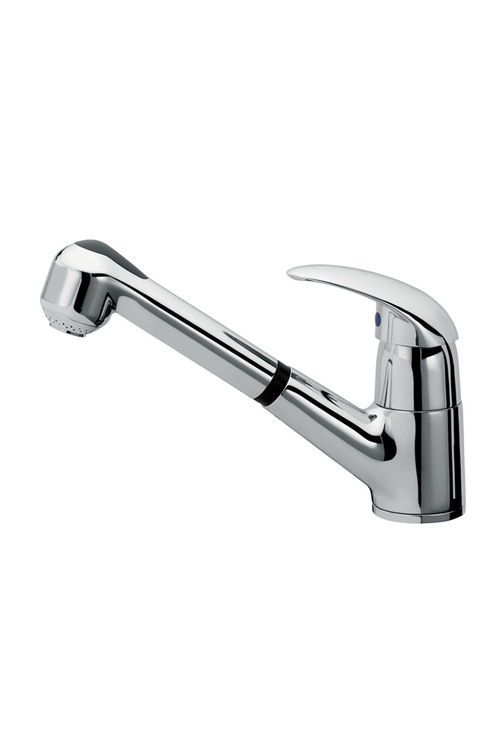 Kitchen Faucet With ABS Pull-Out Handset Chrome Finish