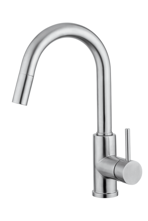 Kitchen Faucet With Pull-Out Handset Stainless Steel