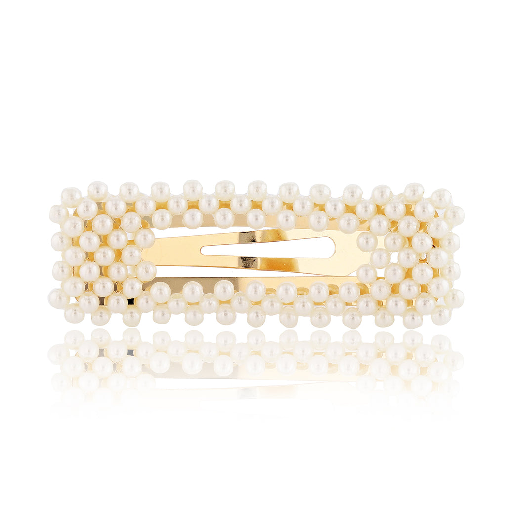 Ciao Bella Pearl Barrette - sweet-bella-rose