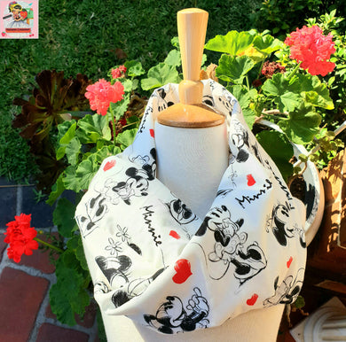 ❣ READY-MADE ❣ MINNIE MOUSE Infinity Scarf ❣ (ONE SIZE)