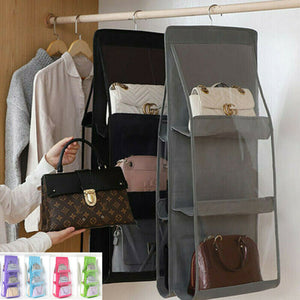 3 Layers Folding Handbag Organizer Door / Storage Closet Hanger