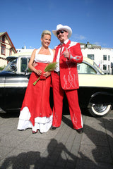 Red Zoot Suit Pimped Out for a Wedding