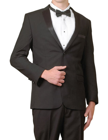 Men's Two Button Two Piece Black Tuxedo Suit