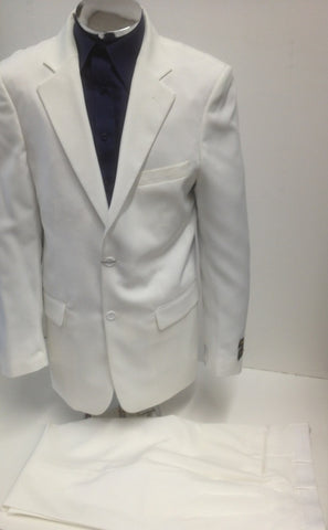 New Men's Two Button Cream Dress Suit - Includes Jacket and Pants