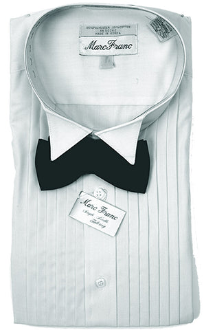 Men's Marc Franc Gray Wing Tip Tuxedo shirt