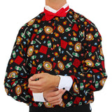 Men's Casino Vegas Themed Tuxedo Shirt