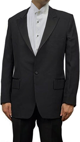 Men's One Button Breasted Peak Lapel Tuxedo Jacket by Broadway Tuxmakers