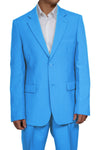 Men's 2 Button Light Blue Dress Suit New