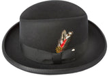 Men's 100% Wool Black Godfather Fedora Style Hat