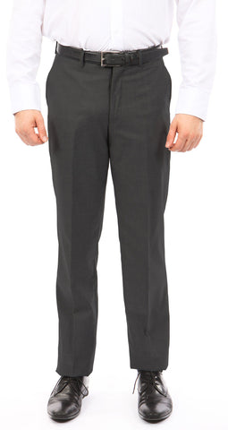 Men's Gray Slim Fit Dress Pants