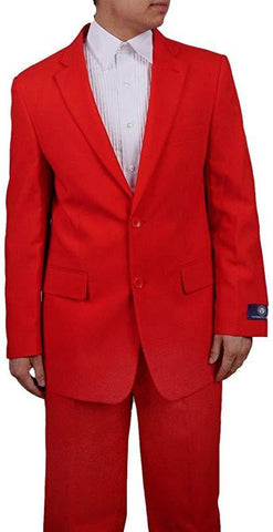 Men's 2 Button Red Dress Suit New