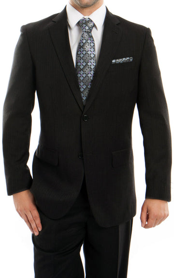Men's Two Button Black Funeral Suit for COVID-19