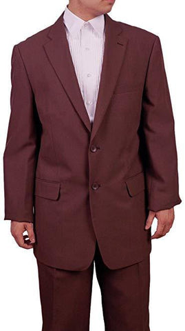Men's 2 Button Brown Dress Suit