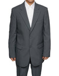 Men's 2 Button Gray (Grey) Dress Suit New