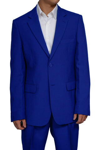 Men's 2 Button Royal Blue Dress Suit New
