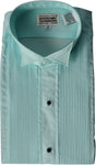 Men's Wing Tip Aqua Blue Tuxedo Shirt